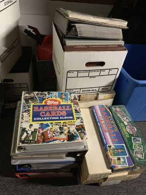 14 Complete Baseball Card Sets some Sealed and some in Binders plus 2 other boxes of cards for Sale in Brea, CA