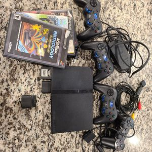 PS2 Slim 4 controllers 3 games for Sale in Tempe, AZ