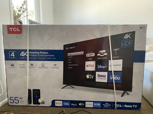 TCL 55 inch 4K TV w Roku BRAND NEW*** for Sale in Newport Beach, CA