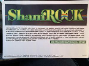 2 Shamrock Tickets for Sale in Poway, CA