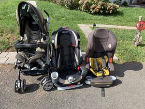 Two Car Seats and a Stroller for Sale in Chantilly, VA