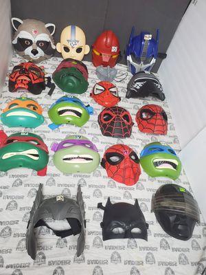 Different Masks ~ Spiderman, TMNT, Avatar, Transformer... for Sale in Santa Ana, CA