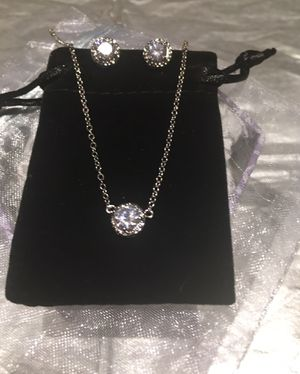 White Gold Color Round CZ with Necklaces & EarringsJewelry Sets $8 for Sale in Avondale, AZ