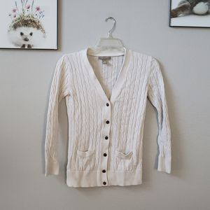 Banana Republic off-white cable knit cardigan for Sale in Corona, CA