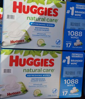Huggies wipes big boxes $32 each box firm price for Sale in Los Angeles, CA