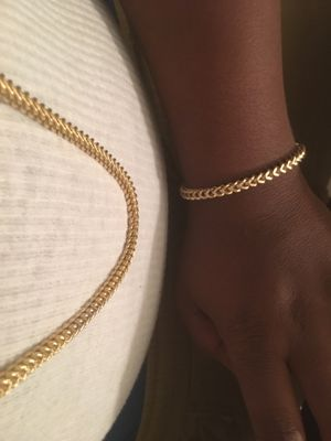 💯% real 10k gold Franco chain and bracelet for Sale in VERNON ROCKVL, CT