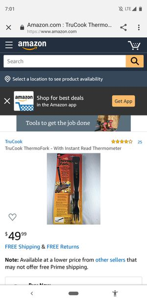 TruCook ThermoFork for Sale in Indianapolis, IN