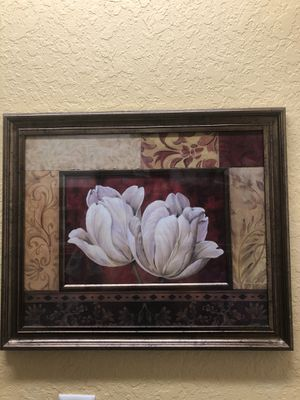 Beautiful flowers frame. for Sale in Port St. Lucie, FL