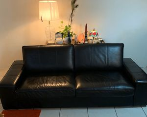 Black Leather Sofa for Sale in Tampa, FL