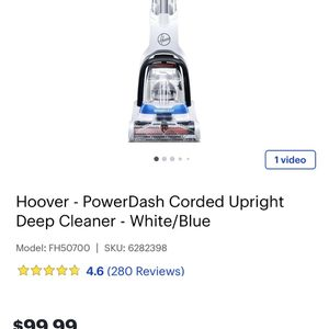 Lightly Used Hoover Power dash Pet Carpet Shampooer for Sale in Covington, KY