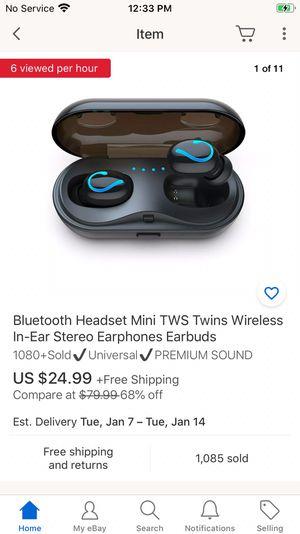 Bluetooth headset mini tws twins wireless in-ear model Q61 for Sale in Windermere, FL