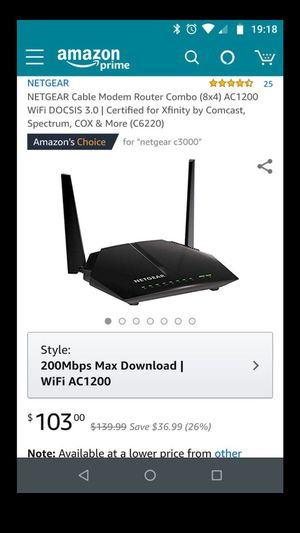 Ac1200 WiFi modem/router for Sale in Tampa, FL