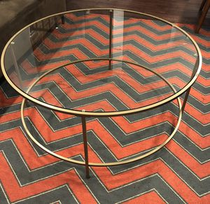 Mid century modern round glass table for Sale in Baltimore, MD