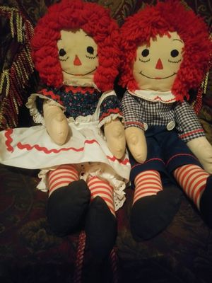 Raggedy Ann and Andy dolls for Sale in Oakland, CA