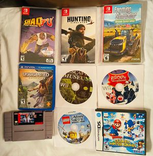 Games for Nintendo Switch, Wii, Wii U, PS Vita & Super Nintendo for Sale in Miami, FL