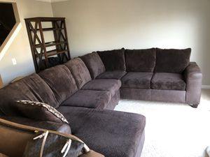 $1200 brown couch with leather lining for Sale in Leesburg, VA