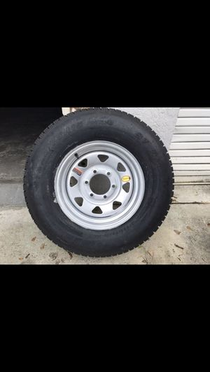 225-75-15inch radial E-load trailer tires on 6-lug rims. $120/each for Sale in Fort Lauderdale, FL