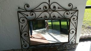 Wrought iron wall mirror for Sale in Fort Lauderdale, FL