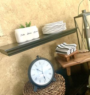 3 ft Pottery Barn black floating shelf for Sale in Lutz, FL