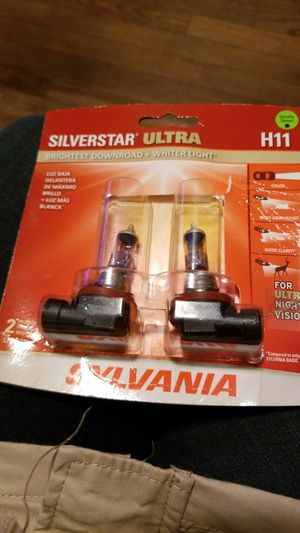 brightest downroad +whiter light front headlights= luz baja delanteras \ H11 SILVERSTAR ULTRA for Sale in Grand Rapids, MI