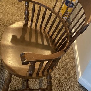 Chair Wood With Arms ! for Sale in Frederick, MD