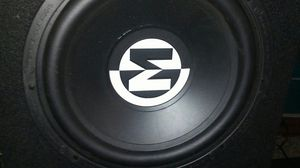 """2x 12"""" subs, box and Amp all memphis for Sale in Tacoma, WA"""