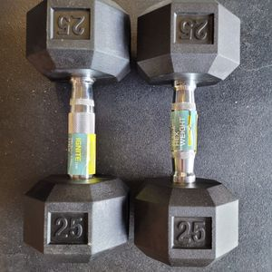 Pair Of 25lbs Dummbbells IGNITE BRAND for Sale in City of Industry, CA