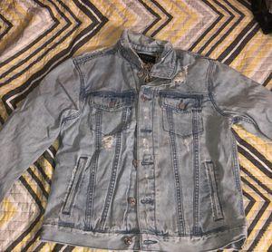 Light blue denim jacket (M) for Sale in Leesburg, VA