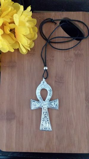 1PC Authentic African XL Silver Ankh Necklace for Sale in Chicago, IL