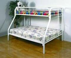 NEW FULL TWIN BUNK BED WITH NEW MATTRESS INCLUDED for Sale in West Palm Beach, FL