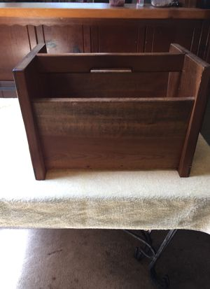 Magazine rack chair side wooden for Sale in West Menlo Park, CA