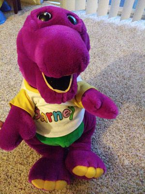 "21"" Original BARNEY the Purple Dinosaur Plush Toy 1992 Lyons Group Rare Tshirt for Sale in Oxnard, CA"