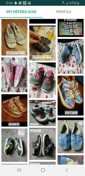Kids and baby shoes. Variety of sizes and prices. See each post(: for Sale in Tacoma, WA