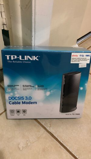 Docsis 3.0 xfinity time Warner cox cable model TP link TC-7610 for Sale in Cooper City, FL