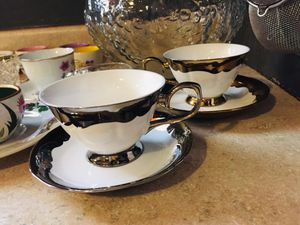 Antique tea cups and crystal glasses for Sale in Los Angeles, CA