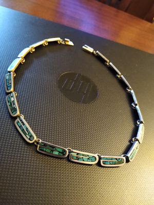 "Taxco Turquoise Sterling Silver 17"" Choker Necklace. Wow! for Sale in Altamonte Springs, FL"