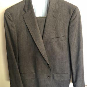 Custom Men's Gray Suit Herringbone for Sale in Chamblee, GA