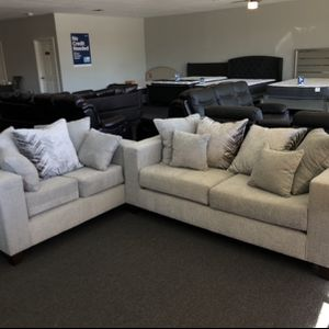(JUST $54 DOWN) Brand new Sofa And Love Seat Set (Financing & Delivery Available) for Sale in Euless, TX