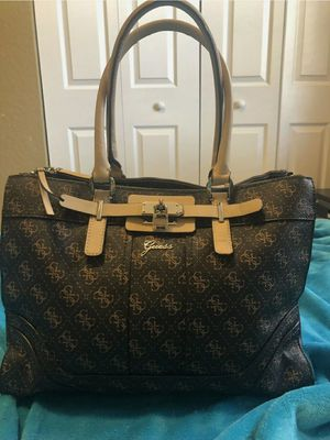 Guess Brown Greyson Carryall Tote w/wallet for Sale in Bolingbrook, IL