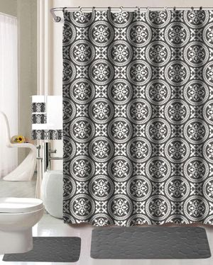 Grey color bathroom set brand new with matching shower curtain for Sale in Salem, OR