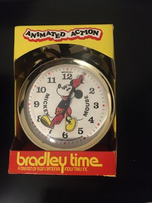 Mickey Mouse Bradley Time Animated Action Clock for Sale in Seattle, WA