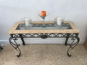 Antique glass table /Sandstone/Shell/Antique Mirror for Sale in Hialeah, FL