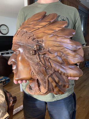 Hand Carved Indian Head for Sale in Riverside, CA