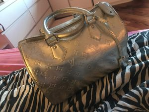 Authentic Louis Vuitton Silver Handbag for Sale in Lansdowne, VA