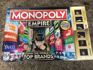 NEW in plastic Monopoly Empire board game with gold player pieces for Sale in Orlando, FL