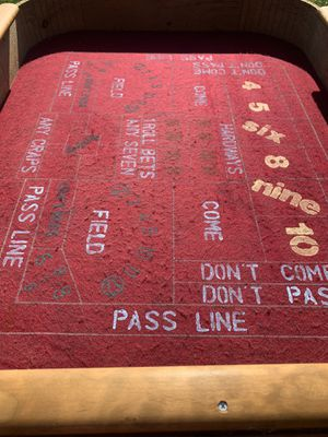 Beautiful homemade craps table for Sale in Sykesville, MD