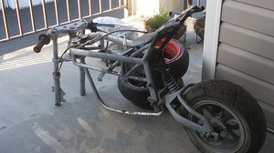 Body frame for a pocket bike with tires and motor for Sale in Everett, WA