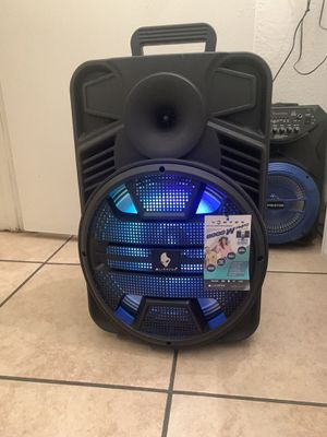 """12"""" subwoofer 8,000 watts bluetooth, rechargeable, fm, usb, tf for Sale in Riverside, CA"""