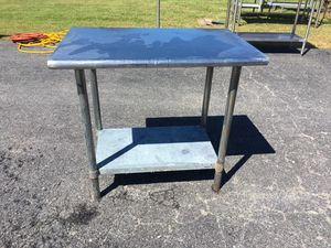 36 x 24 x 34 Stainless Steel Table w Metal Undershelf for Sale in Wellsville, PA