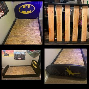 Twin Batman Bed W/replaced Slats for Sale in Tacoma, WA